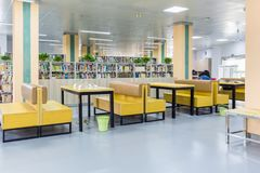 Library reading area royalty free stock photos