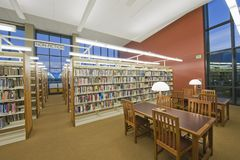 Library reading room Stock Image