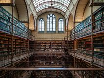 Library in Rijksmuseum. In Amsterdam, the Netherlands stock photography