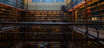 Library of Rijksmuseum Royalty Free Stock Photos