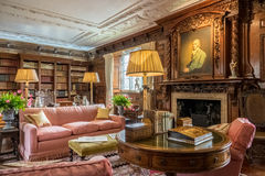 Library room in Hever Castle Royalty Free Stock Images