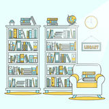 Library scene illustration Stock Photography