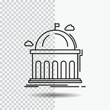Library, school, education, learning, university Line Icon on Transparent Background. Black Icon Vector Illustration. Vector EPS10 Abstract Template background vector illustration