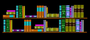 Library shelf book Royalty Free Stock Image
