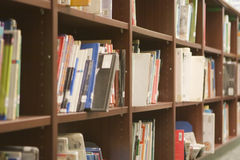 Library Shelves Royalty Free Stock Photography