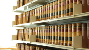 Library shelves Royalty Free Stock Photo