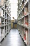 Library Shelves Full Of Colour Coded Filing Stock Image