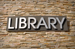 Library Sign Stock Images