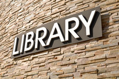 Library Sign Stock Photography