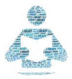 Library Sign. In Word Collage Stock Images