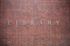 Library sign Royalty Free Stock Image