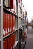 Library Stacks. Public library book stacks with bookshelves full of books royalty free stock images