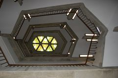 Library Staircase, geometric image stock photos