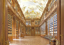 Library in Strahov monastery in Prague, Royalty Free Stock Images