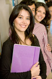 Library students Royalty Free Stock Photography