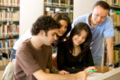 Library students Stock Image