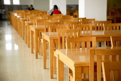 Library tables with chairs Royalty Free Stock Photo