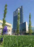 Library of trees, the new Milan park overlooking the Palazzo della Regione Lombardia, skyscraper Stock Image