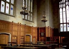 Library of the university of Michigan. This is a view of the library in the university of Michigan Stock Photo