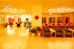 Library. The library is very quiet, suitable for people to learn Stock Images