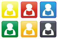 Library web button Stock Photography