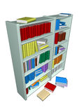 Library. In withe background Royalty Free Stock Photography
