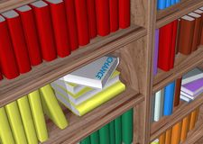 Library. In withe background Royalty Free Stock Image