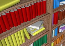 Library. In withe background Royalty Free Stock Photo