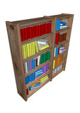 Library. In withe background Stock Photo