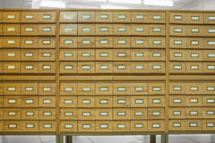 Library wooden card catalog Royalty Free Stock Photography