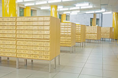 Library wooden card catalog Stock Image