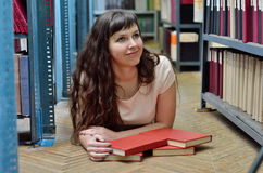 In the library Stock Photos