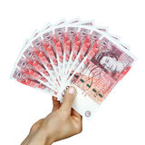 Libras británicas del dinero BRITÁNICO Imagen de archivo libre de regalías