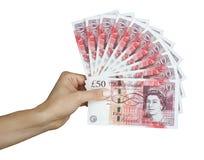 Libras británicas del dinero BRITÁNICO Fotografía de archivo libre de regalías