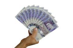 Libras británicas del dinero BRITÁNICO Fotografía de archivo