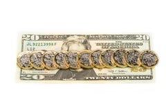 Libras britânicas e dólares americanos Imagens de Stock Royalty Free