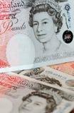 Libras da nota - rainha Elisabeth Fotografia de Stock Royalty Free