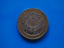 2 libras de moeda, Reino Unido Fotografia de Stock Royalty Free