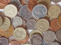 Libras e moedas de um centavo Imagens de Stock Royalty Free