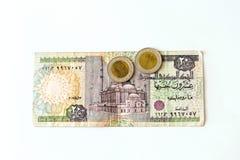 20 libras egipcias de billete de banco, EGP Imagen de archivo