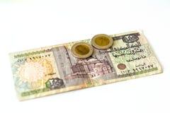 20 libras egipcias de billete de banco, EGP Imagen de archivo libre de regalías