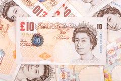 Libras inglesas, um fundo Imagens de Stock Royalty Free