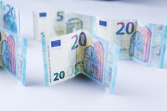 Libras, 20 libras britânicas Fotografia de Stock Royalty Free