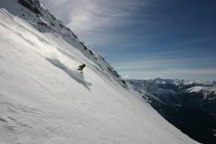 Libre-esquiador en polvo Imágenes de archivo libres de regalías