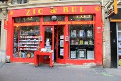 Librería brillante y colorida, el Zic y Bul, París, Francia, 2016 Fotos de archivo