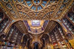 Librería de Lello en la ciudad de Oporto Fotos de archivo libres de regalías