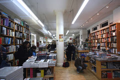 Librería famosa de Manhattan Imagenes de archivo