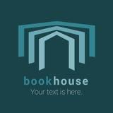 Librería, librería, emblema del vector de la biblioteca, muestra, símbolo, logotipo ilustración del vector