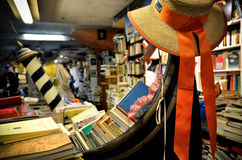 Libreria Acqua Alta, Venedig Lizenzfreies Stockbild