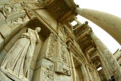 Libreria antica di celsus di ephesus immagini stock libere da diritti